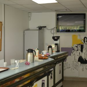La cafeteria, endroit idéal pour une pause café. C
