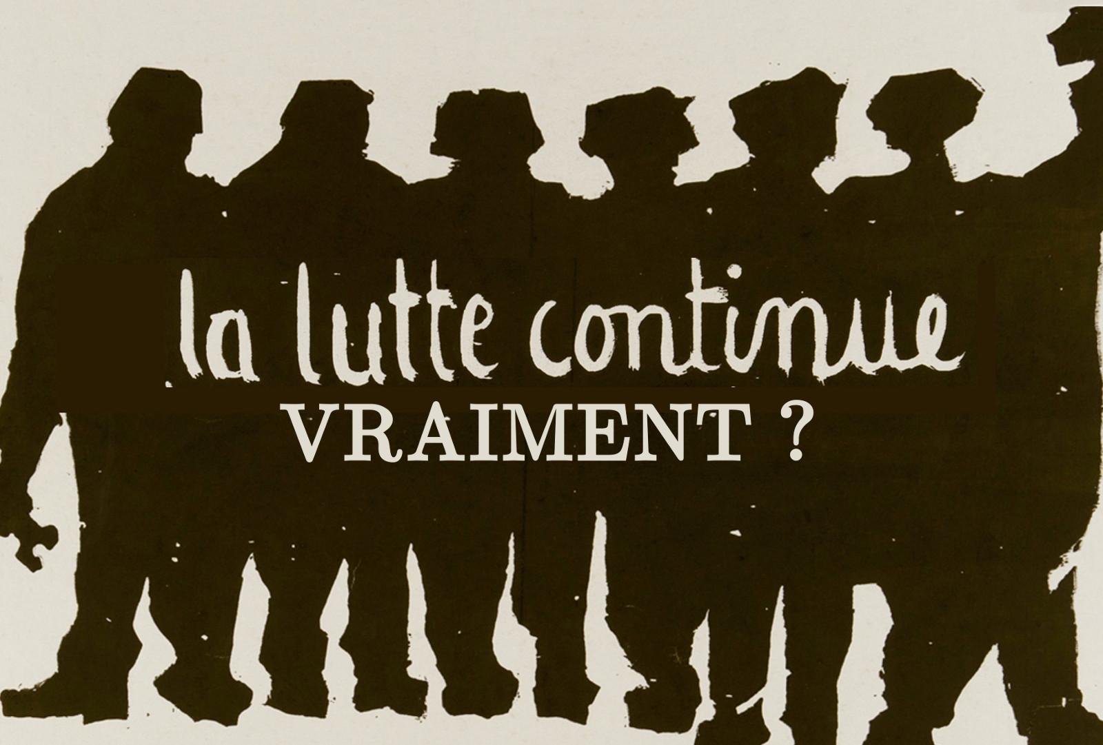 """Réforme de l'université - Affiche de mai 1968 retouchée : ajout du texte """"vraiment ?""""."""